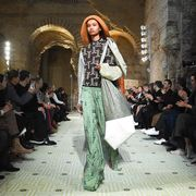 Fashion, Runway, Fashion model, Fashion show, Haute couture, Event, Fashion design, Dress, Architecture, Model,