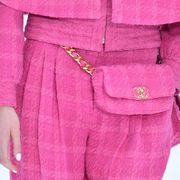 Pink, Clothing, Magenta, Outerwear, Belt, Sleeve, Robe, Peach,