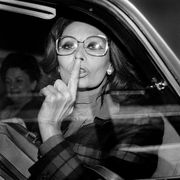 Sophia Loren In A Car