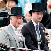 ascot, united kingdom   june 18 embargoed for publication in uk newspapers until 24 hours after create date and time prince charles, prince of wales and prince william, duke of cambridge attend day one of royal ascot at ascot racecourse on june 18, 2019 in ascot, england photo by max mumbyindigogetty images