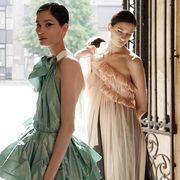 Clothing, Fashion, Fashion model, Dress, Fashion design, Gown, Shoulder, Victorian fashion, Haute couture, Outerwear,