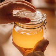 Ghee clarified butter in jar