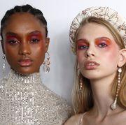 Lip, Hairstyle, Skin, Chin, Forehead, Eyebrow, Eyelash, Eye shadow, Style, Bridal accessory,