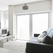 sliding glass door in living room