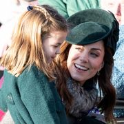 kings lynn, england   december 25 princess charlotte of cambridge and catherine, duchess of cambridge attend the christmas day church service at church of st mary magdalene on the sandringham estate on december 25, 2019 in kings lynn, united kingdom photo by uk press pooluk press via getty images