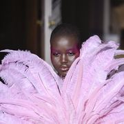 paris, france   january 22 adut akech walks the runway during the valentino haute couture springsummer 2020 show as part of paris fashion week on january 22, 2020 in paris, france photo by peter whitegetty images