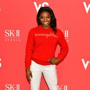 new york, new york   march 04 sk ii and simone biles reveal vs series teaser film for beauty is nocompetition at crosby street hotel on march 04, 2020 in new york city photo by craig barrittgetty images for sk ii