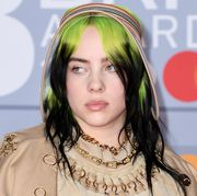 london, england   february 18 editorial use only billie eilish attends the brit awards 2020 at the o2 arena on february 18, 2020 in london, england photo by gareth cattermolegetty images