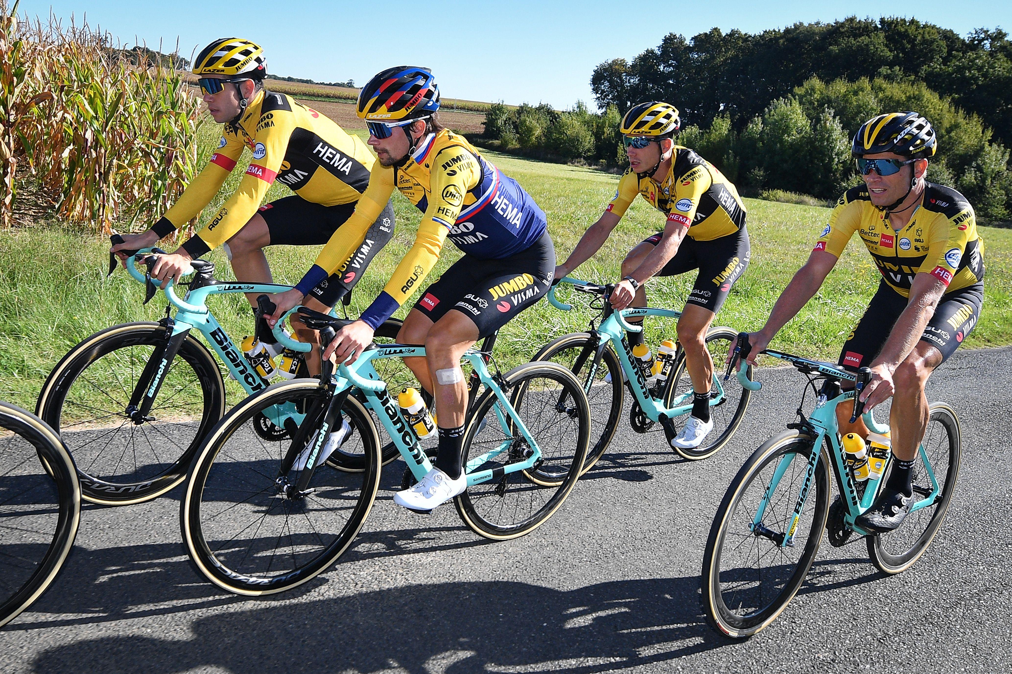 Rim brakes are increasingly rare in today's peloton.