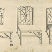 chinoiserie,  chinese chairs, in chippendale drawings