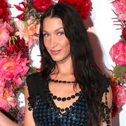 paris, france   july 05 bella hadid attends louis vuitton parfum hosts dinner at fondation louis vuitton on july 05, 2021 in paris, france photo by bertrand rindoff petroffgetty images for louis vuitton