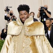 new york, new york   september 13 lil nas x attends the 2021 met gala celebrating in america a lexicon of fashion at metropolitan museum of art on september 13, 2021 in new york city photo by mike coppolagetty images