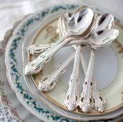 Dishware, Serveware, White, Kitchen utensil, Linens, Porcelain, Cutlery, Home accessories, Household silver, Plate,