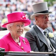 ascot, england   june 16  queen elizabeth ii and prince philip, duke of  edinburgh arrive for day 1 of royal ascot at ascot racecourse on june 16, 2015 in ascot, england  photo by chris jacksongetty images
