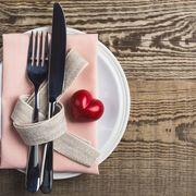 Dishware, Tableware, Cutlery, Kitchen utensil, Fork, Hardwood, Grey, Napkin, Home accessories, Serveware,