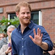 nottingham, england    october 26 prince harry waves as he leaves nottinghams new central police station on october 26, 2016 in nottingham, england photo by joe giddins   wpa poolgetty images