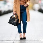 Clothing, Street fashion, Shoulder, White, Fashion, Jeans, Snapshot, Waist, Footwear, Outerwear,