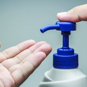 Water, Hand, Finger, Plastic, Plastic bottle, Nail, Fluid, Spray, Thumb,
