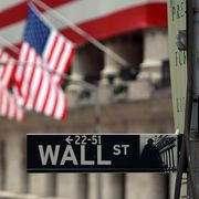 new york   september 16  a wall st sign next to the new york stock exchange nyse september 16, 2008 in new york city us stocks continued to drop tuesday morning for the second consecutive day, following yesterdays dow jones industrial average plunge of 44 or 504 points, being the worst single day loss since the terrorist attacks of september 2001 today the federal reserve is scheduled to announce the target interest rates for the federal funds its not clear how the central bank will respond to recent turmoil in the worlds financial markets this comes after news of merrill lynch  co inc selling itself to bank of america corp, the financial firm lehman brothers holdings inc filing for chapter 11 bankruptcy protection, and insurance giant american international group inc aig attempting to raise capital to stay afloat photo by spencer plattgetty images