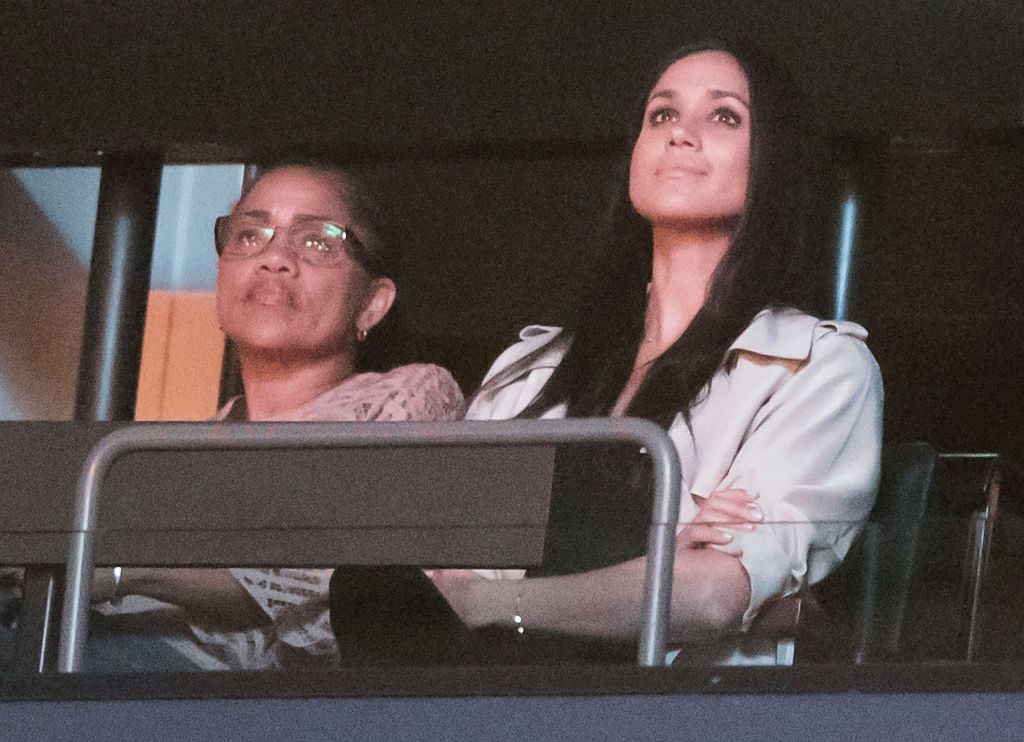 Meghan Markle is reportedly close with her mother, pictured here at the Invictus Games in 2017.