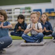 mindfulness for toddlers - meditating in class