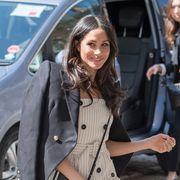 Clothing, Street fashion, Coat, Fashion, Trench coat, Outerwear, Beauty, Snapshot, Footwear, Long hair,