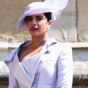 Abigail Spencer and Priyanka Chopra arrive at the royal wedding