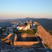 Sky, Landmark, Morning, Wall, Hill, Mountain, Historic site, Sunset, Hill station, Evening,