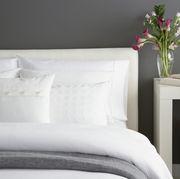 White, Bedding, Furniture, Bed sheet, Bed, Room, Bedroom, Pillow, Bed frame, Textile,