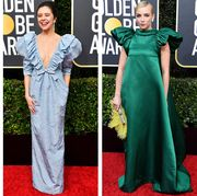 Clothing, Red carpet, Yellow, Carpet, Dress, Green, Fashion, Flooring, Gown, Premiere,