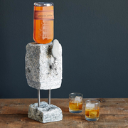stone drink dispenser and laguoile gold steak knives