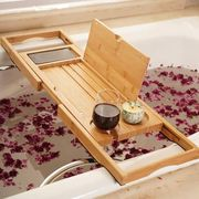 gifts for mom, bathtub tray and terrarium candles