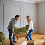 Giving their new home a touch of modern flair with stylish furniture