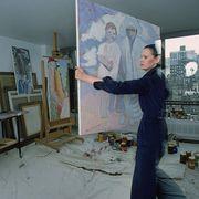 Artist, Visual arts, Room, Painting, Art, Painter, Plaster, Interior design, Flooring, Floor,
