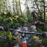 gopro photo from mountain biker