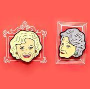 golden girls enamel pins sophia blanche rose dorothy