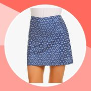 blue golf skirt