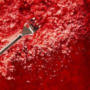 rhubarb raspberry granita