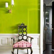 green paint high gloss green painted hallway
