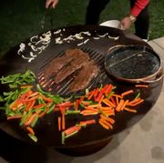 round low cooktop and grill that chrissy teigen bought