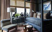 Furniture, Room, Interior design, Living room, Property, Bedroom, Building, Suite, Curtain, Bed,