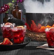 halloween drinks - pomegranate-rum punch