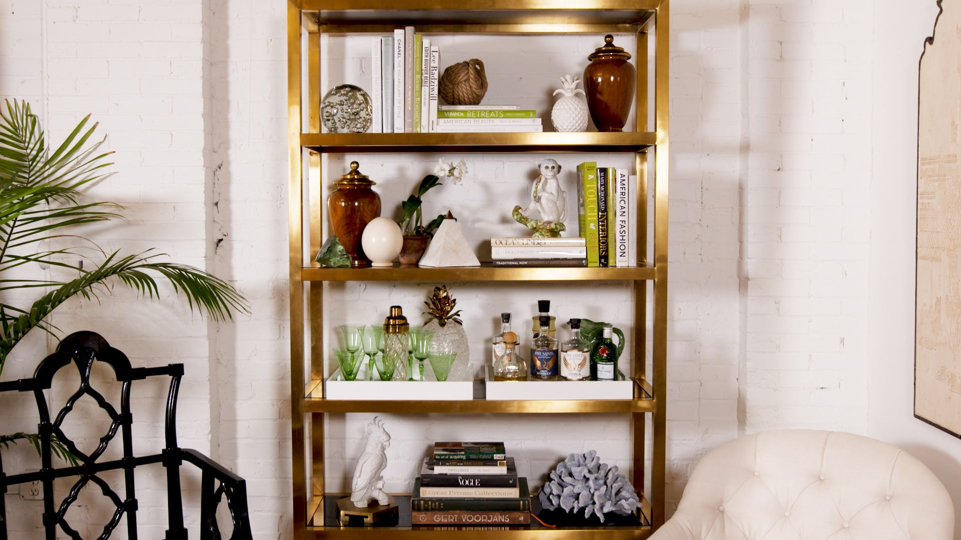 Here's the Secret to Getting Perfectly Styled Bookshelves