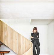 white, stairs, floor, standing, wood, room, hardwood, wood flooring, leg, fashion,