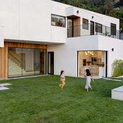 grass, modern, open walls