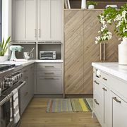 Countertop, Room, White, Kitchen, Cabinetry, Furniture, Property, Floor, Interior design, Drawer,
