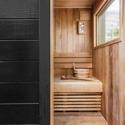 Room, Property, Wood stain, Wood, Interior design, House, Building, Architecture, Sauna, Hardwood,