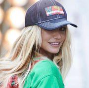 Clothing, Cap, Beanie, Baseball cap, Beauty, Hat, Street fashion, Cool, Headgear, Blond,