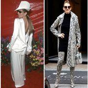 Clothing, White, Fashion, Fashion model, Street fashion, Outerwear, Formal wear, Dress, Footwear, Blazer,
