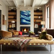 Living room, Furniture, Room, Interior design, Wall, Property, House, Couch, Table, Building,